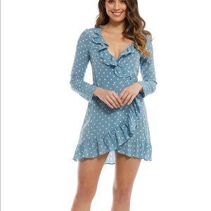 NWOT Realisation Par Alexandra dress blue spot